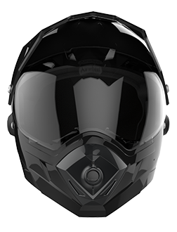 C8 full face helmet realizes 2K video shooting, hands-free phone call, music player and app connection with tail light turn signals.