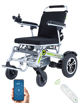 Airwheel H3S power chair, featuring automatic folding system and App remote control is the perfect companion for traveling around your city.